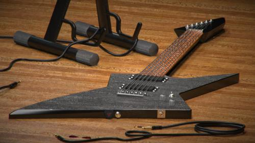 Luxrender Guitar Scene preview image