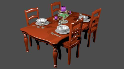 Simple Dining Table  preview image