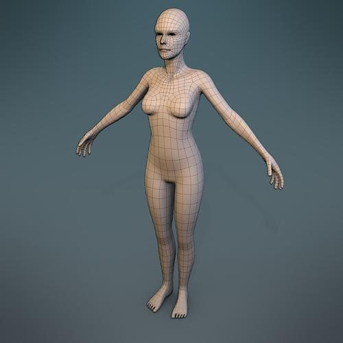Female Body Character Basemesh preview image