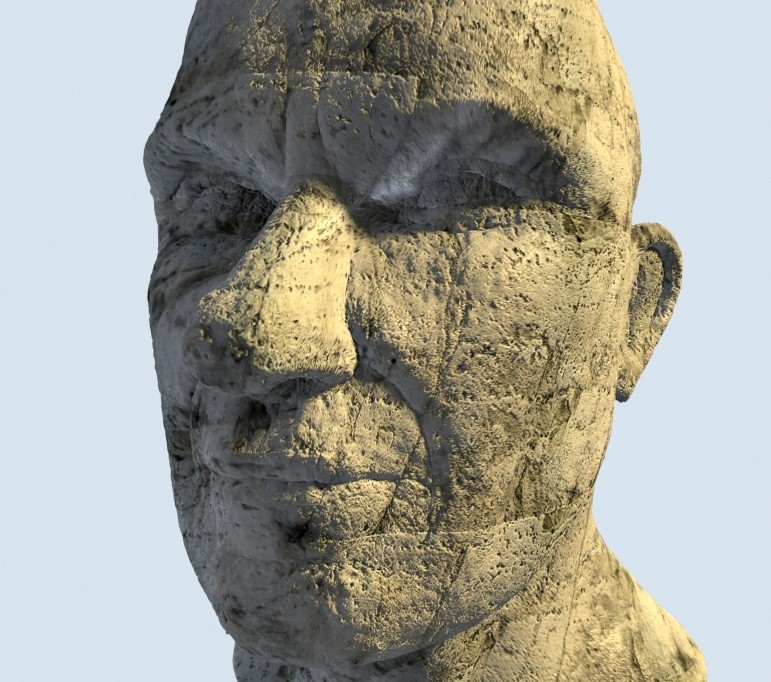 Stone textured head preview image 1