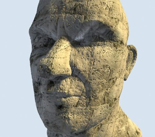 Stone textured head preview image