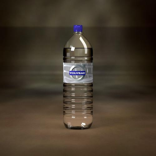 Plastic disposable water bottle preview image