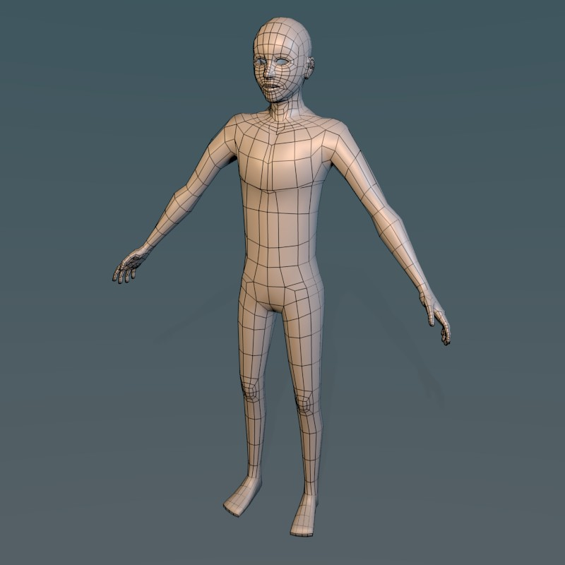 Low poly male character preview image 1
