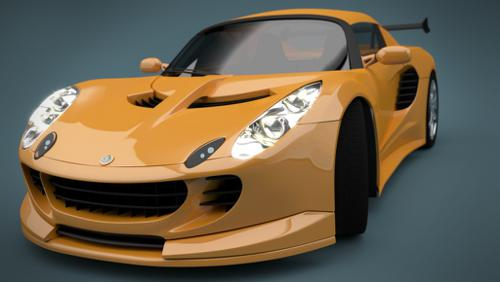 Lotus Elise + Studio HDRI preview image
