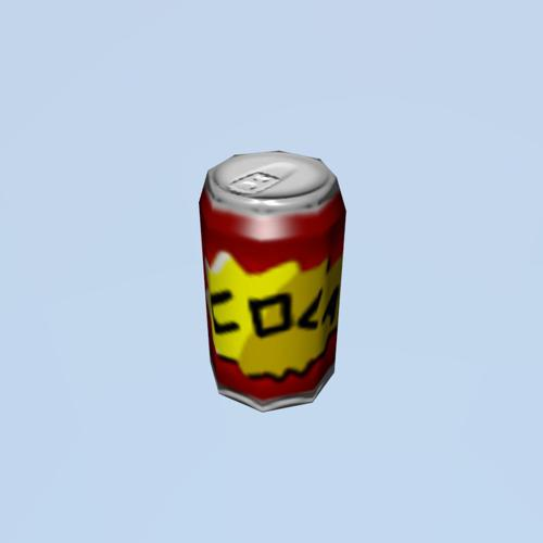 Low poly cola can preview image