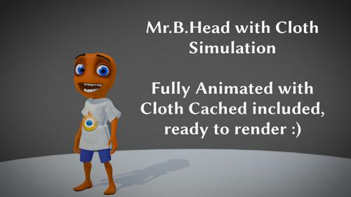 Mr. B. Head with animation and Full Body Cloth Cached preview image