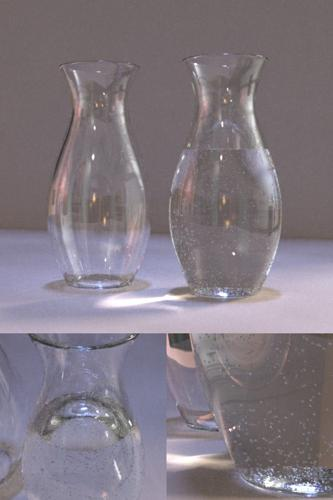 Realistic vase with water and bubbles preview image
