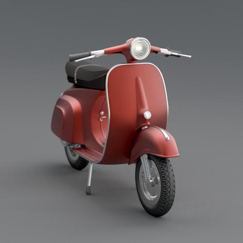 Vespa - High poly model preview image