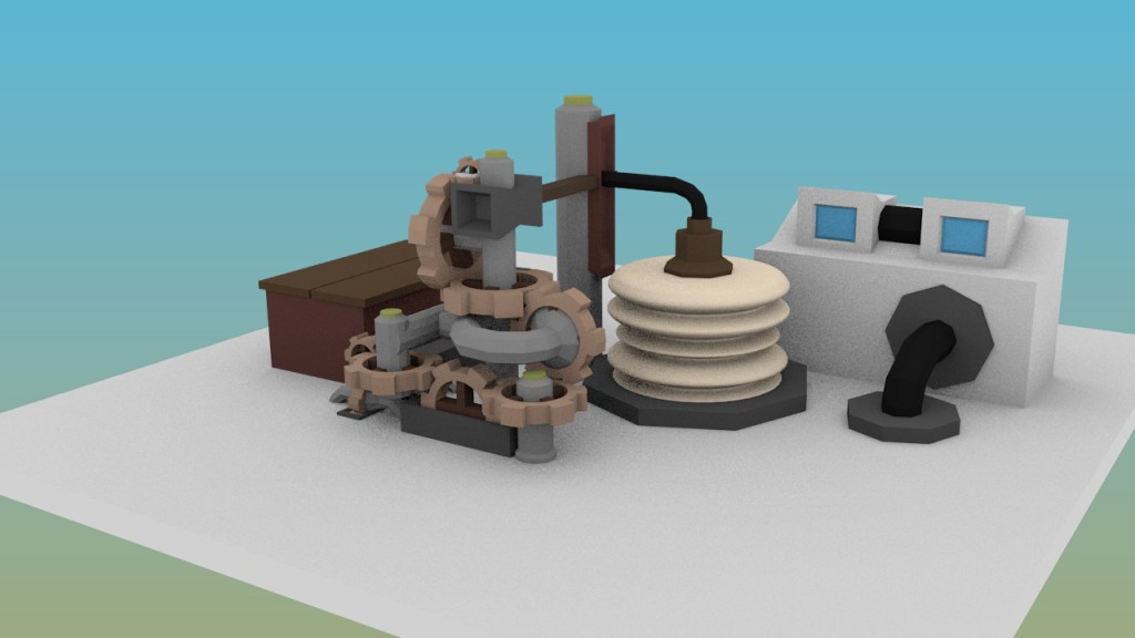 Advanced low poly Gear Train preview image 1