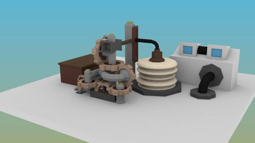 Advanced low poly Gear Train preview image
