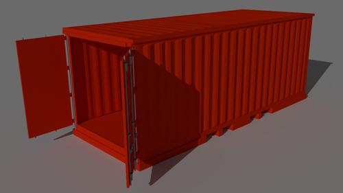 Container Fully rigged Made in Cycles preview image