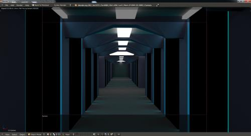 Futuristic corridor - cycles render  preview image