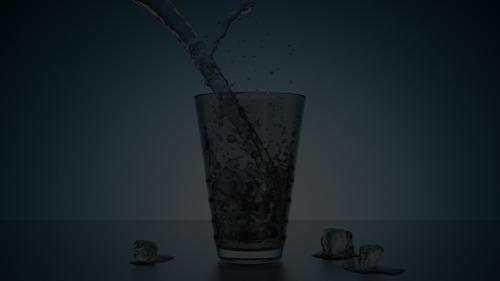 Realistic water in a glass. preview image