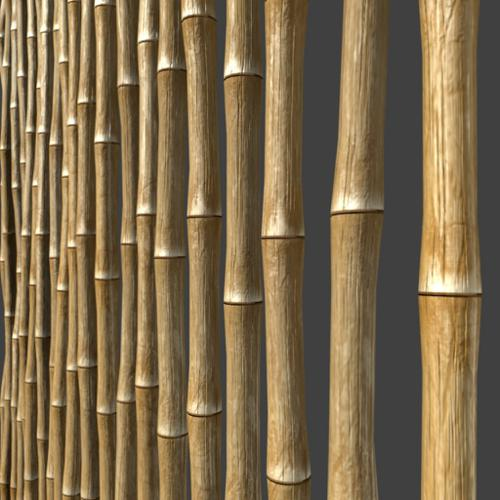 Bamboo Fence + textures preview image
