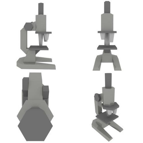 Lowpoly Low-Tech Microscope preview image
