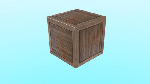 Low Poly Crate preview image