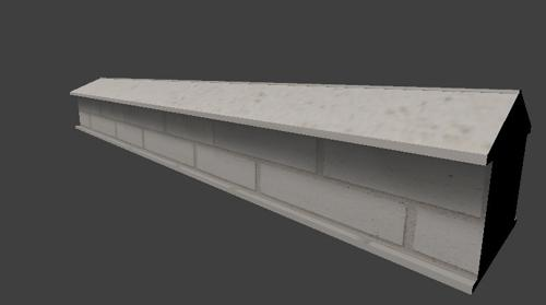 White Brick Wall - Low Poly preview image