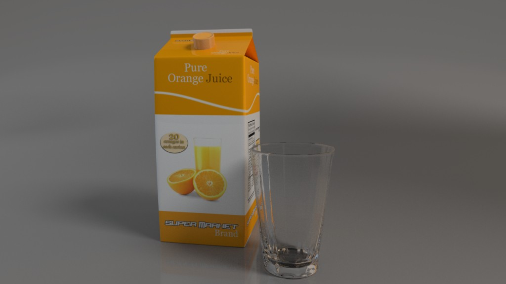 Orange Juice Container  preview image 1