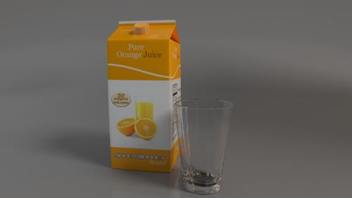 Orange Juice Container  preview image