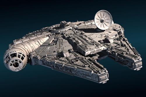 Millennium Falcon  (High Poly) preview image