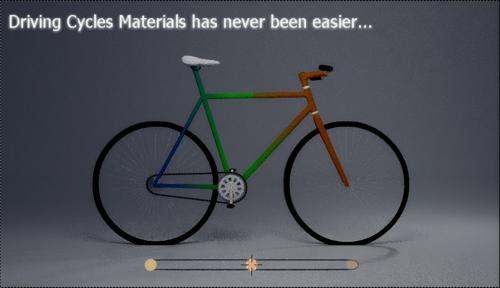 Cycles Material Drivers Demo - Lowpoly Bicycle preview image