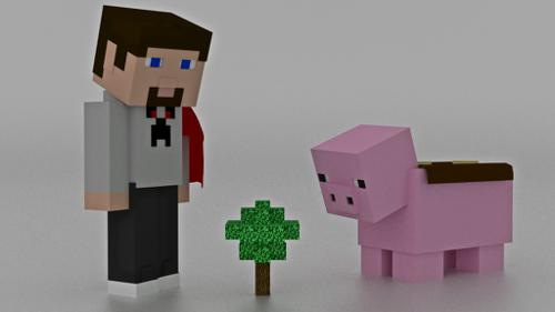 Steve From Minecraft  includes Piggy preview image