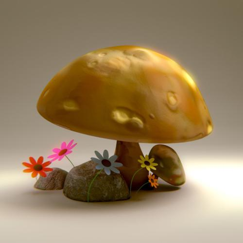 Mushrooms and Flowers preview image