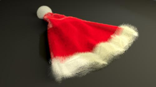 Fluffy Santa Hat preview image