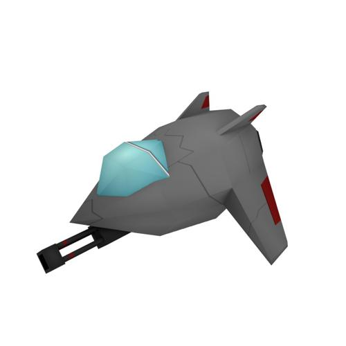 Stylized LowPoly Jet preview image