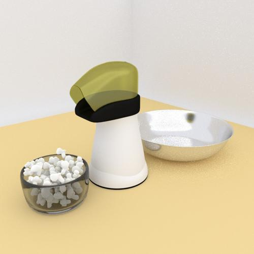 Popcorn popper  with popcorn. preview image