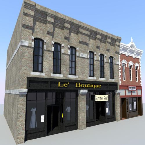 Old Town Store Front Buildings preview image