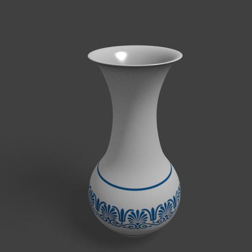 Simple White Flower Vase preview image