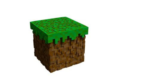 Graphic Minecraft DIRT BLOCK preview image