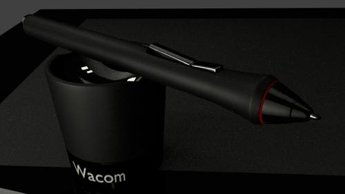 wacom pen and cradle preview image