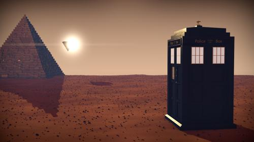 Tardis in Mars  preview image