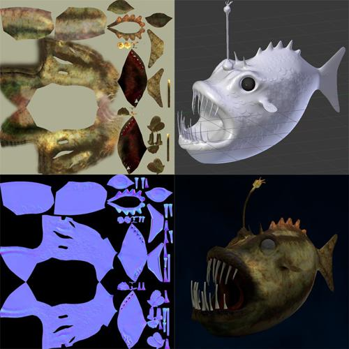 Angler Fish with HR sculpti preview image