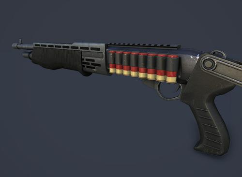 Spas-12 Lowpoly  GameArt  preview image