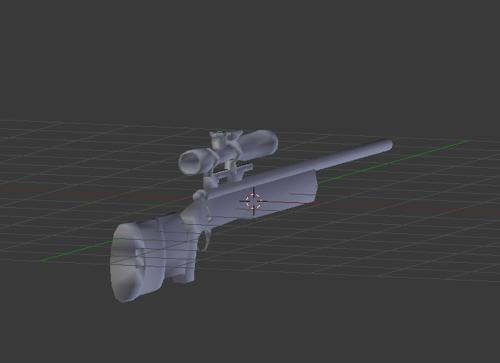 M40 Sniper Rifle Low Poly preview image