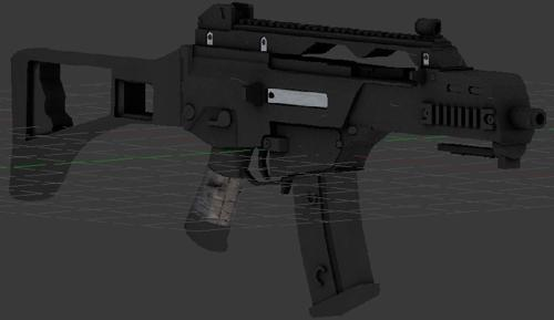 G36C Modelled and Textured Properly Zipped preview image