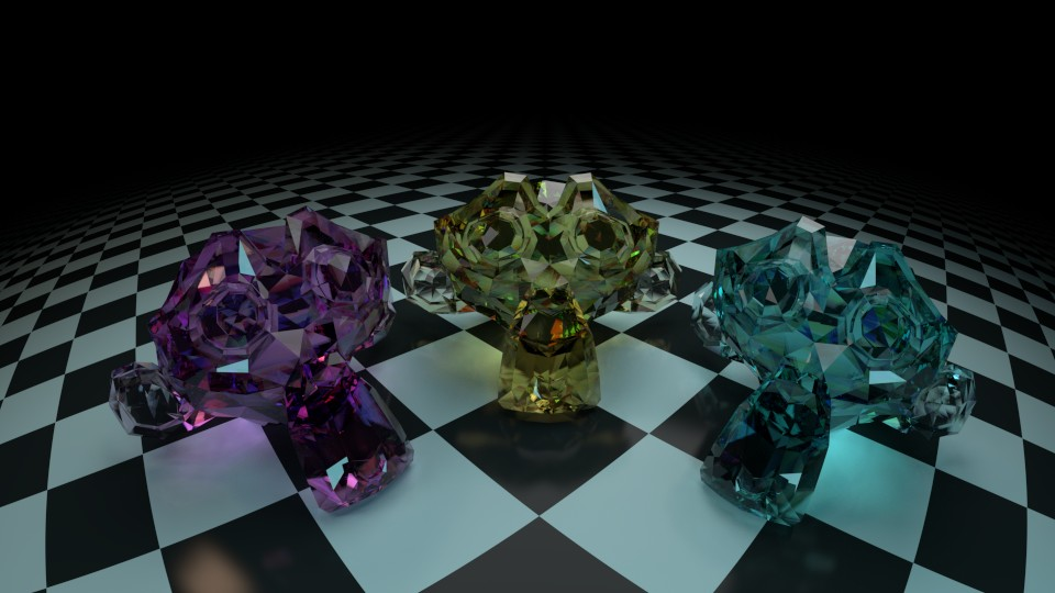 Cycles Dispersion Glass Shader preview image 1