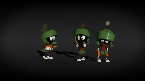 marvin the martian with simple rig preview image