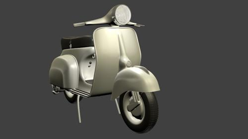 vespa velloce low poly preview image