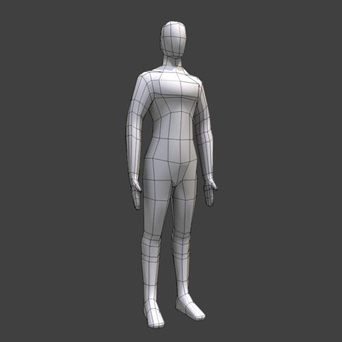 Very Low Poly Human Basemesh preview image