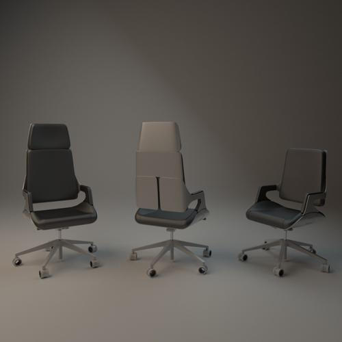 Interstuhl silver office chair preview image