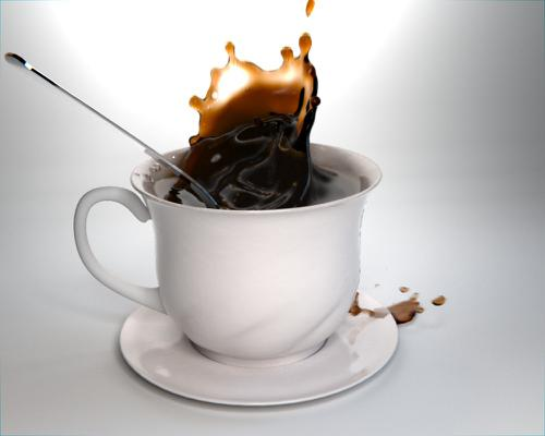 Coffee splash on cup preview image