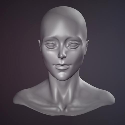 Female face sculpt preview image