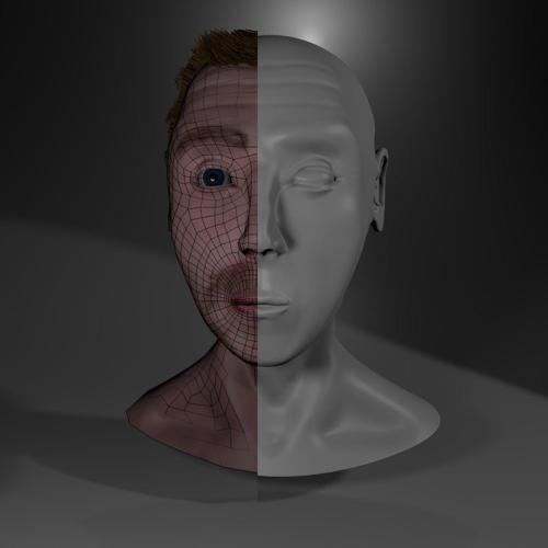 Sculpted Head Repology and Textures included  preview image