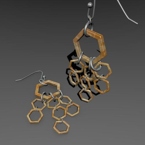 Hexagon Earrings preview image