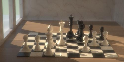 LuxRender Chess Set preview image