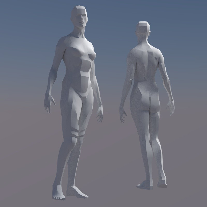 Rigged Female Figure preview image 1